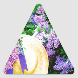 Awesome Purple Lilacs Floral Design Photo Image Stickers