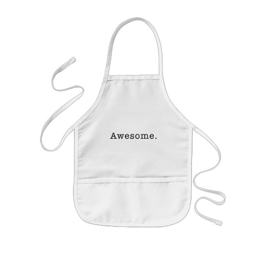 Awesome Quote Template Blank black white Kids Apron