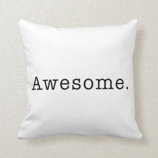 Awesome Quote Template Blank  black white Throw Cushions