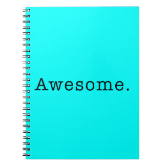 Awesome Quote Template Blank in Black and Teal Spiral Notebook