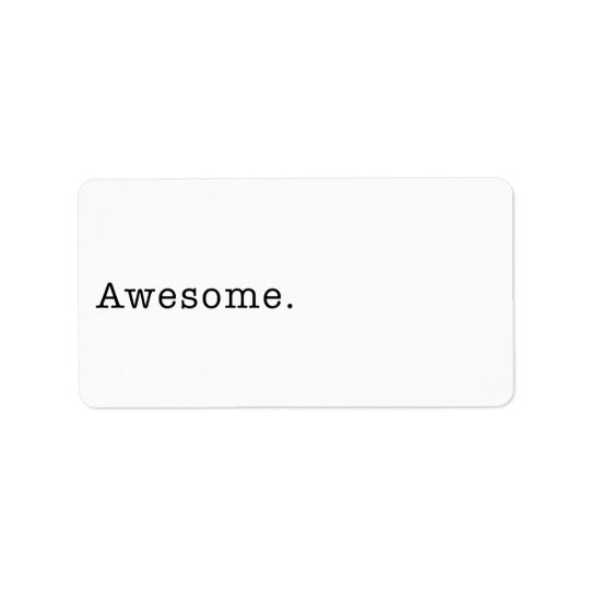 Awesome Quote Template Blank in Black and White Label
