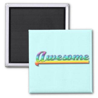 Awesome - Rainbow Fridge Magnet