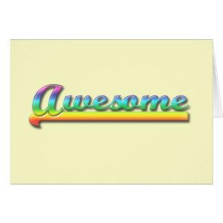 Awesome - Rainbow Greeting Card