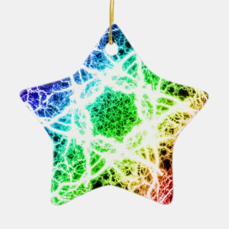 awesome rainbow lightning christmas ornament