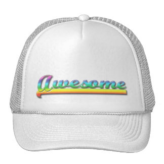 Awesome - Rainbow Mesh Hat