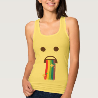 Awesome Rainbow Puking Emoji Tank Top