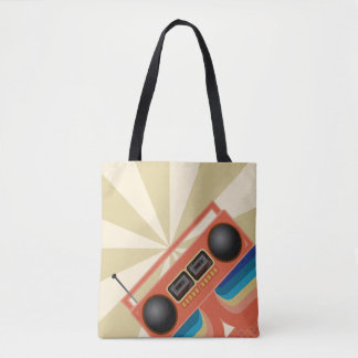 Awesome Red Boom Box Tote Bag