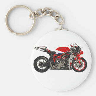 Awesome Red Racing Motorcycle Key Chains