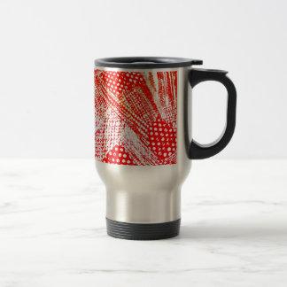 Awesome Red Yellow Abstract Design Image Travel Mug