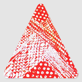Awesome Red Yellow Abstract Design Image Triangle Sticker