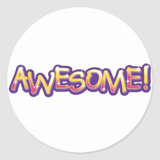 Awesome! Round Sticker
