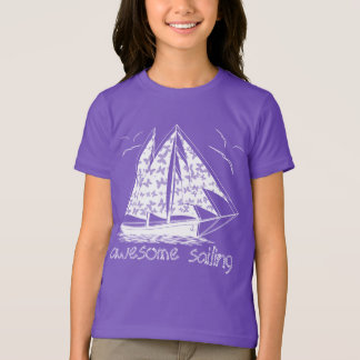 Awesome sailing! girly nautical T-Shirt