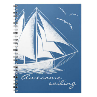 Awesome sailing, nautical notebook