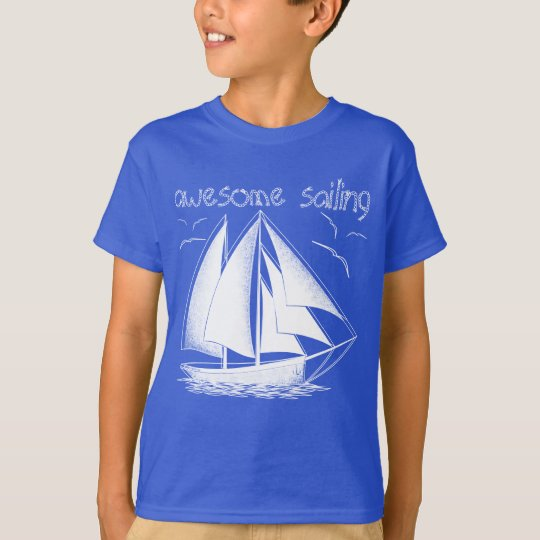 Awesome sailing! nautical, vintage, personalised T-Shirt