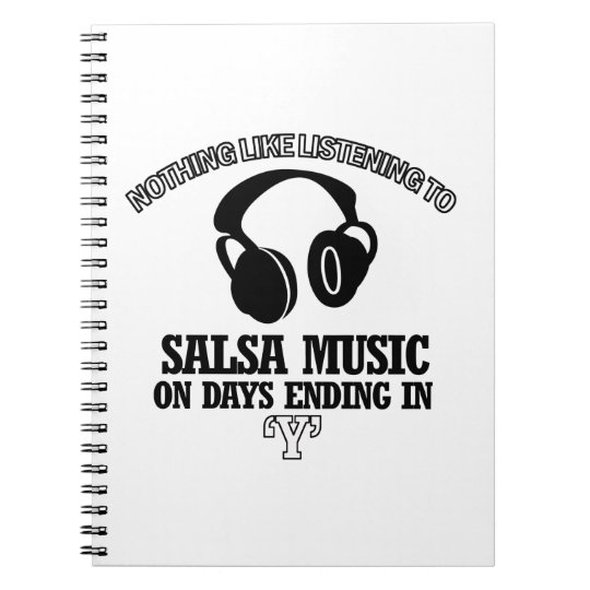 awesome Salsa music designs Notebooks