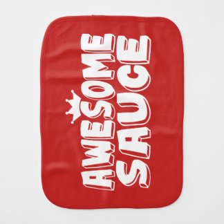 Awesome Sauce Red Burp Cloth