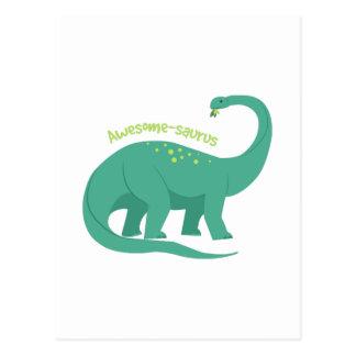 Awesome-saurus Postcard