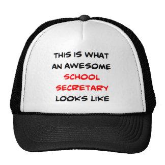 awesome school secretary cap