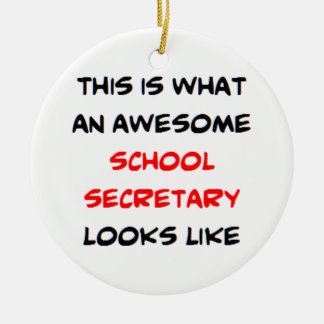 awesome school secretary christmas ornament