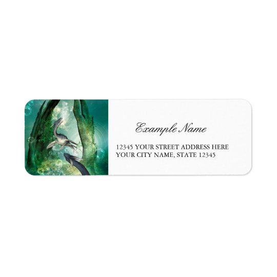 Awesome seadragon return address label