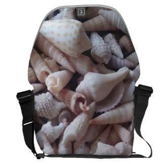 Awesome Seashells Up Close Print Messenger Bag