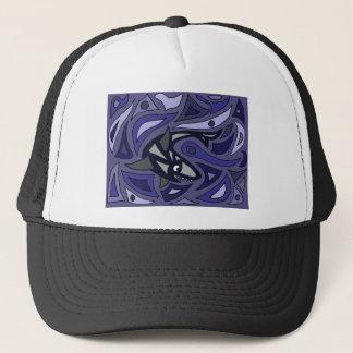 Awesome Shark Abstract Art Design Trucker Hat