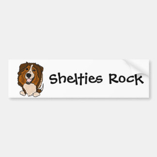Awesome Shetland Sheepdog Art Bumper Sticker