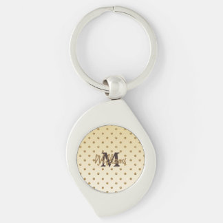 Awesome shining faux glitter gold polka dots key chains