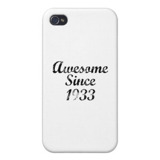 Awesome Since 1933 iPhone 4/4S Covers