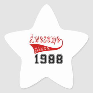Awesome Since 1988 Star Sticker