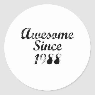 Awesome Since 1988 Round Stickers
