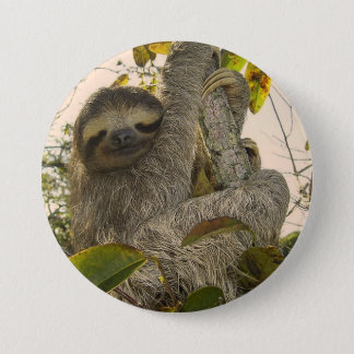 Awesome Sloth 7.5 Cm Round Badge