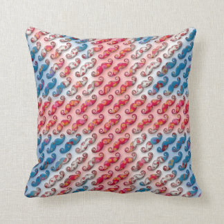 Awesome small floral moustache patterns UK flag Cushion