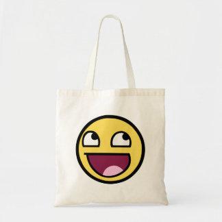 Awesome Smiley Budget Tote Bag