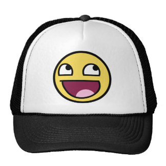 awesome smiley face awesome face hats