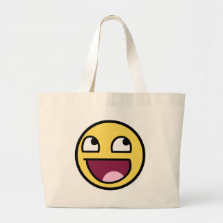 awesome smiley face awesome face jumbo tote bag