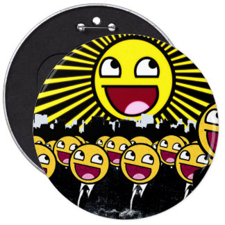 Awesome Smiley Faces Yellow Emoticon 6 Cm Round Badge
