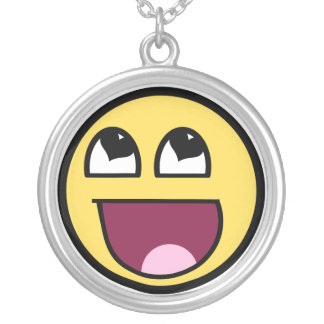 Awesome Smiley Heart eyes Round Pendant Necklace