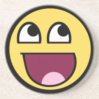 Awesome Smiley Internet Meme Drink Coaster