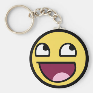 Awesome Smiley Key Ring