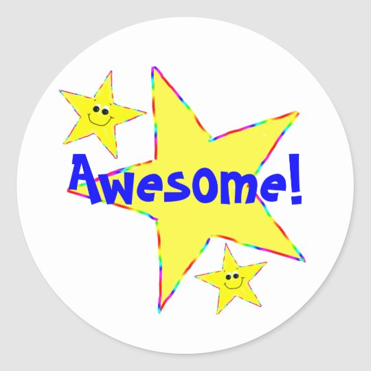 Awesome Smiley Star School Stickers