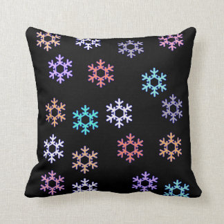 Awesome Snowflakes Throw Pillow / Cushion