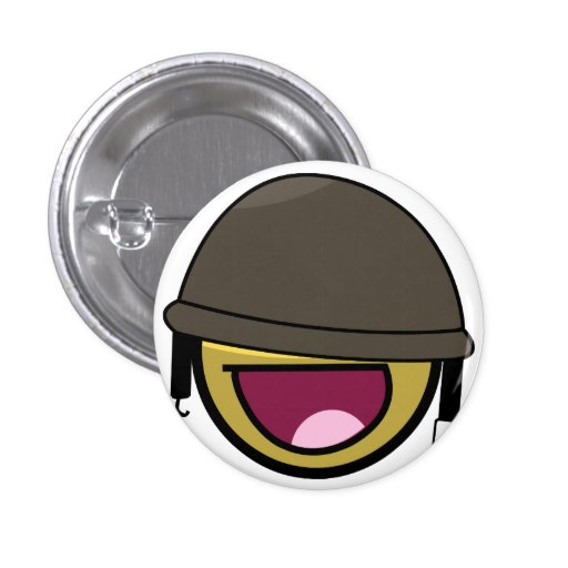 AWESOME SOLDIER 3 CM ROUND BADGE