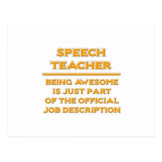 Awesome Speech Teacher .. Job Description Postcard