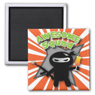 AWESOME Squad Square Magnet