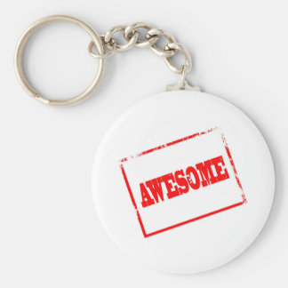 Awesome Stamp Basic Round Button Key Ring