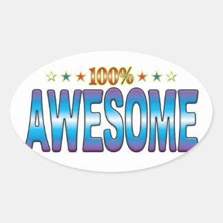 Awesome Star Tag v2 Oval Sticker