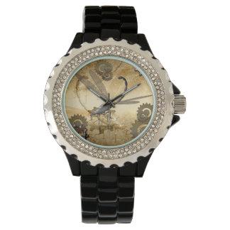 Awesome steam dragonflies wristwatch