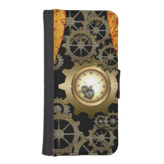 Awesome steampunk design with clocks and gears iPhone SE/5/5s wallet case