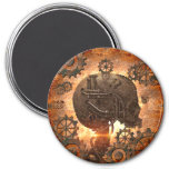 Awesome steampunk Skull 7.5 Cm Round Magnet